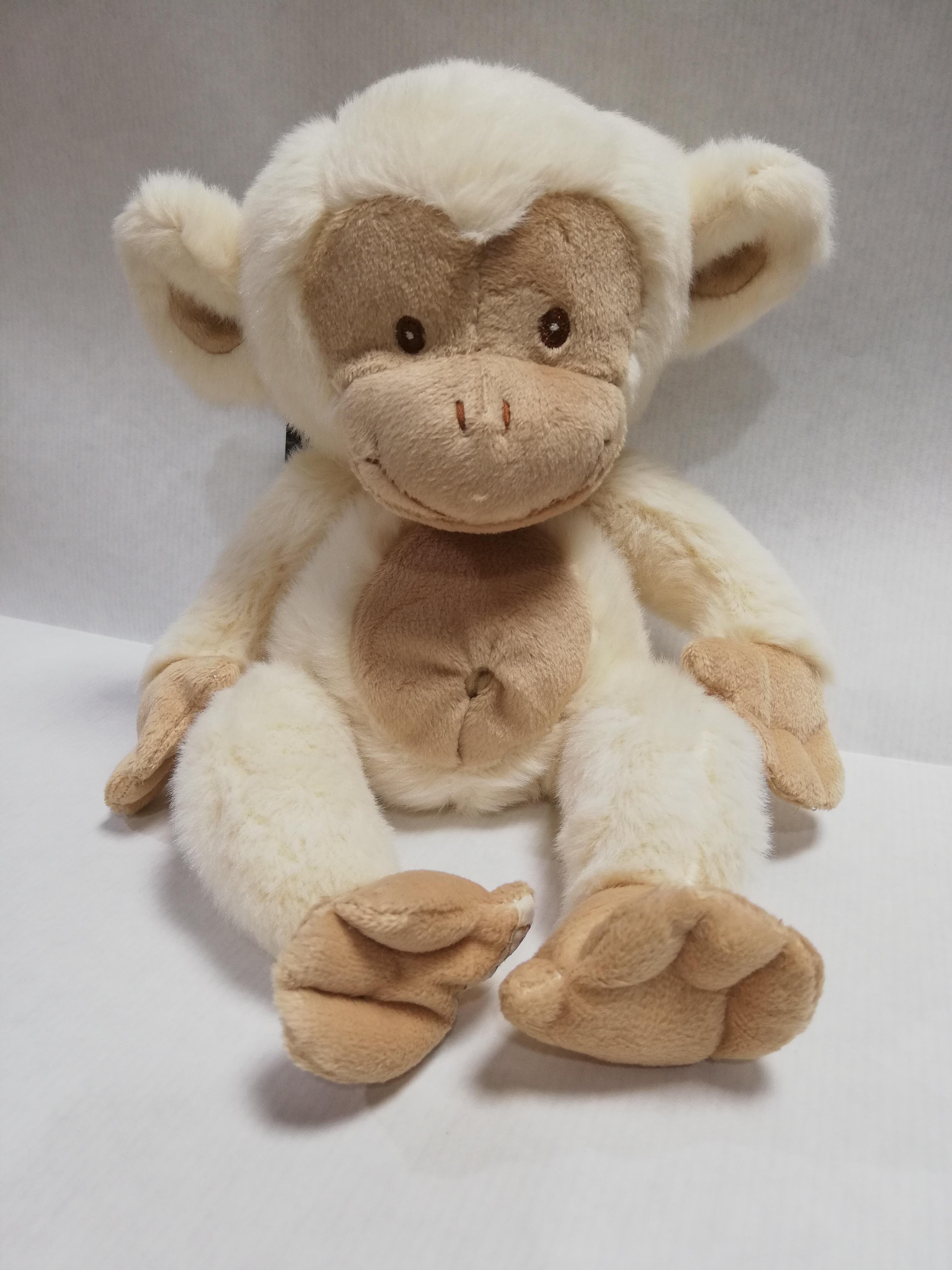 scimmia peluche di Bukowski color panna