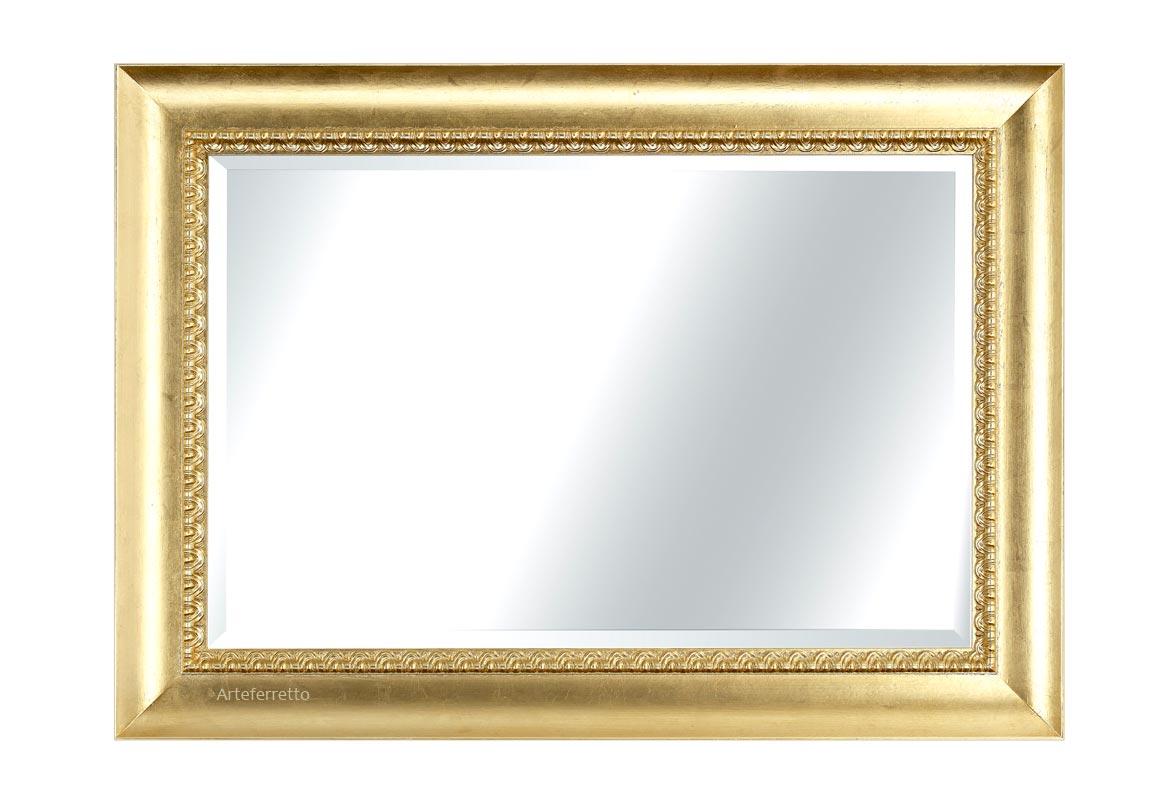 Gold leaf mirror 'fresco classico'