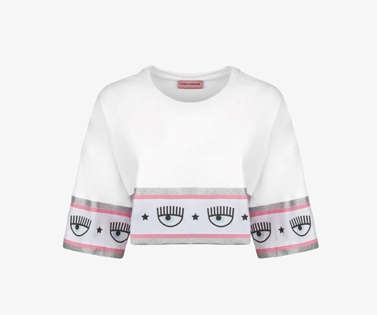 T-shirt maxi logomania chiara ferragni