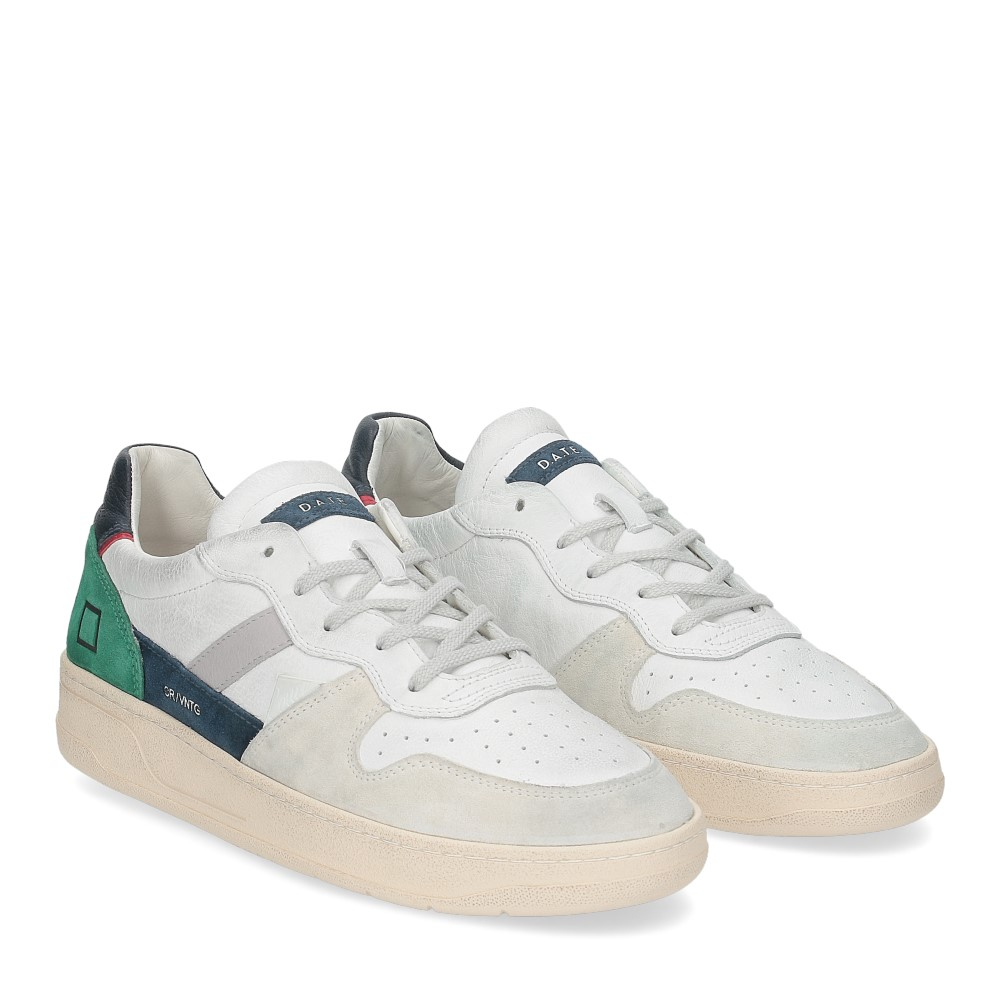 D.A.T.E. Court 2.0 vintage calf white blue