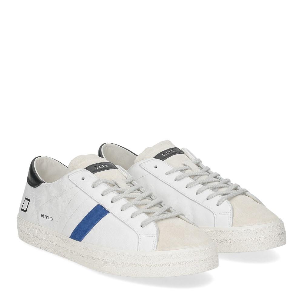 D.A.T.E. Hill low vintage calf white bluette