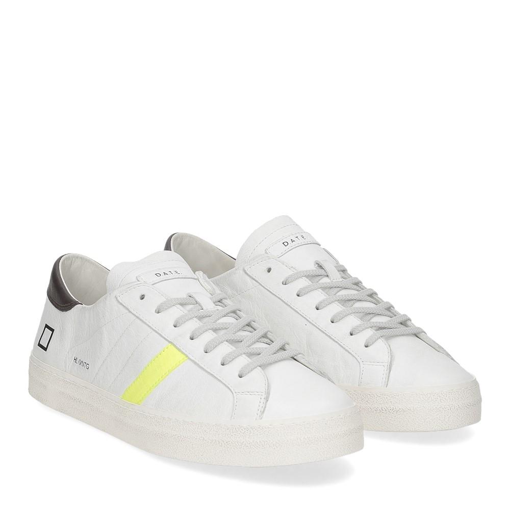 D.A.T.E. Hill low vintage calf white yellow