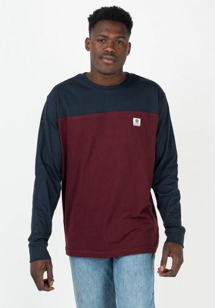 T-Shirt Element Maniche Lunghe Basic Baseball Eclipse Navy