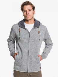Felpa QuikSilver Keller Zip Light Grey