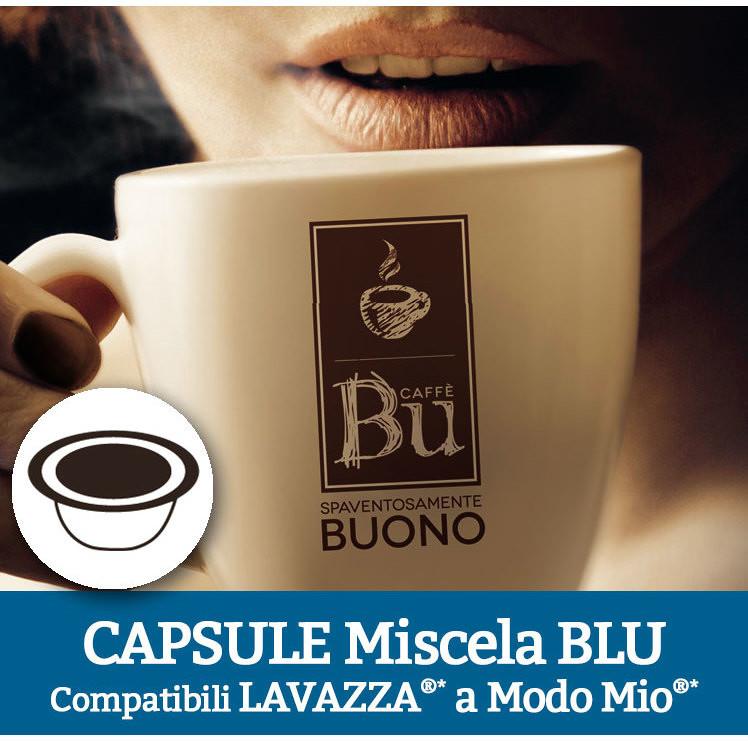 Caffè BU Kit 100 Capsule miscela BLU per macchine Lavazza A Modo Mio