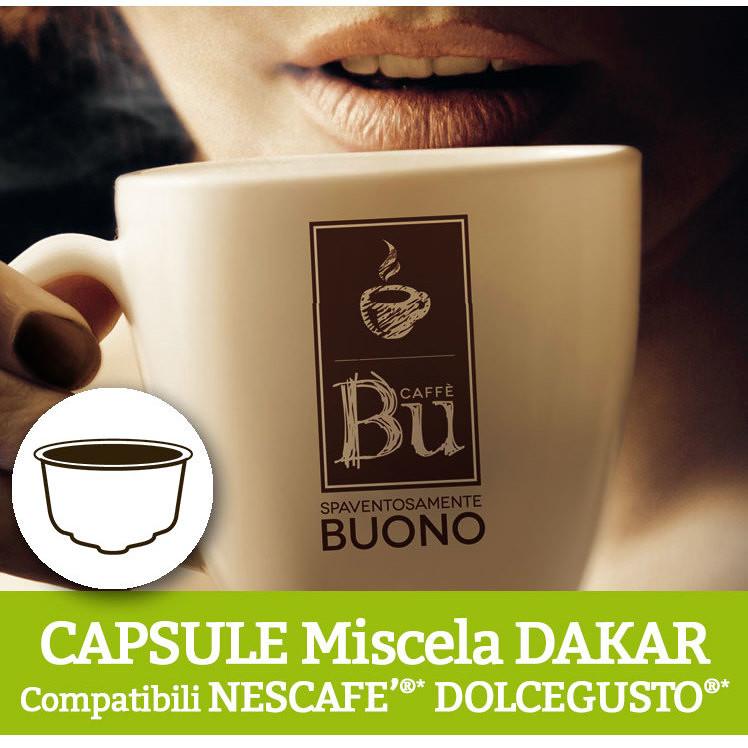 Caffè BU Kit 128 capsule miscela DEK per macchine Dolce Gusto