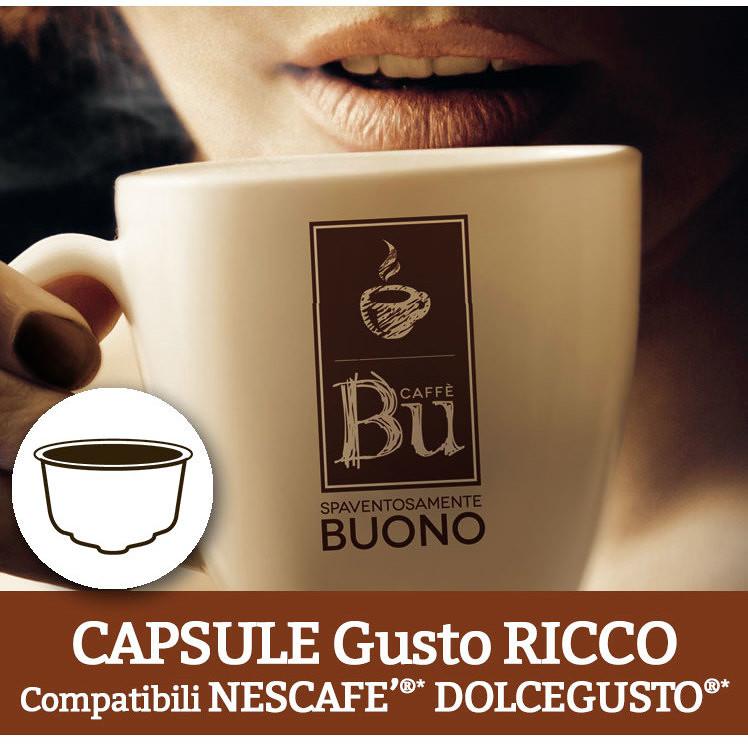 Caffè BU Kit 128 capsule miscela RICCO per macchine Dolce Gusto