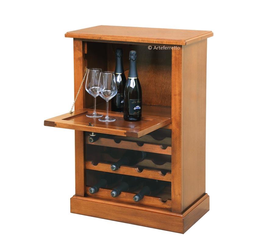 Botellero clásico en madera