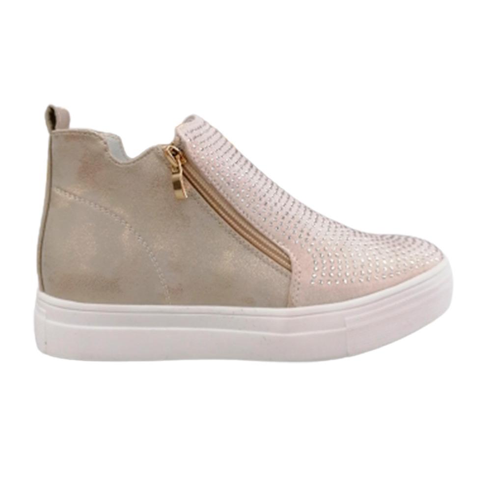 Sneakers Donna Energy 22 BEIGE SAT.  -10