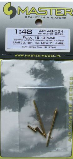 GERMAN 3,7CM FLAK 18 GUN BARRELS (2 PCS.)