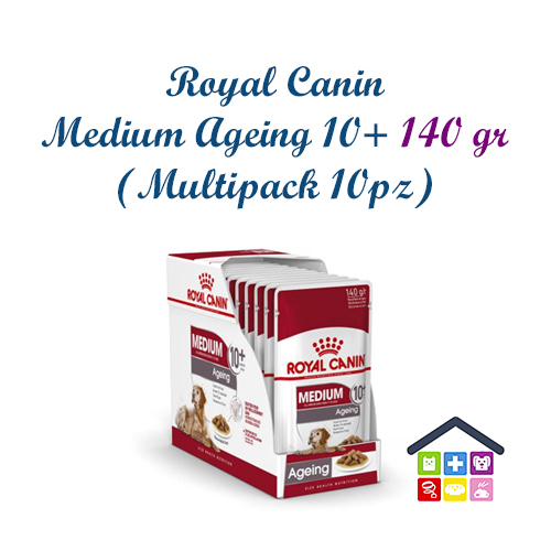 Royal Canin Cane | Linea Size HN | MEDIUM Adult Ageing10+ / 10X140g (Bustina ? Multipack)
