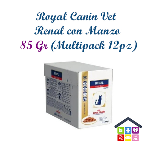 Royal Canin Gatto   Linea VET   Renal con Manzo - 12x85gr (bustina multipack)