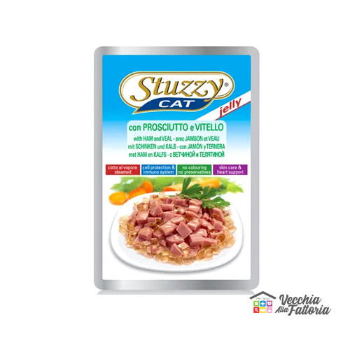 AGRAS STUZZY CAT | Bocconcini al Prosciutto e Manzo - JELLY / 100gr
