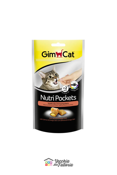 GIMBORN | Gimcat Nutri Pockets - Salmone e Omega