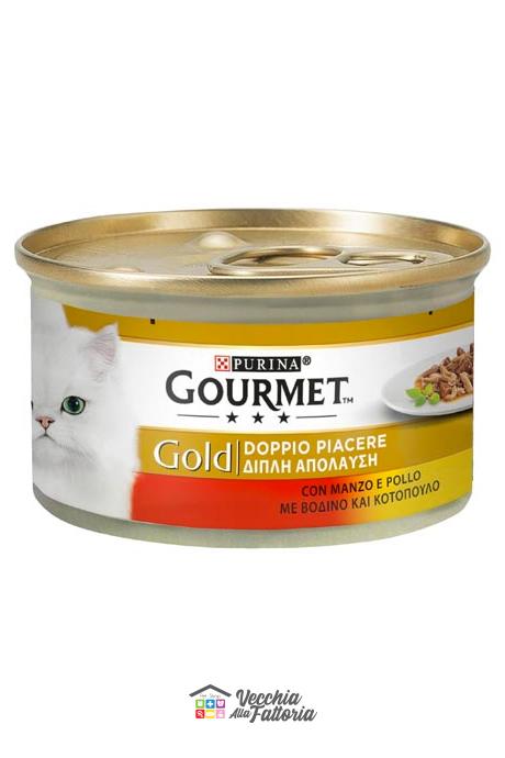 PURINA | GOURMET GOLD - Doppio Piacere / Gusto: MANZO e POLLO - 85gr