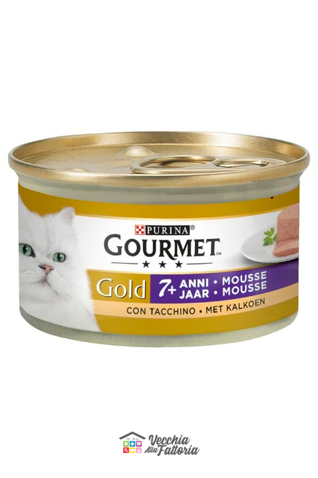 PURINA | GOURMET GOLD - Mousse 7+/ Gusto: Tacchino - 85gr