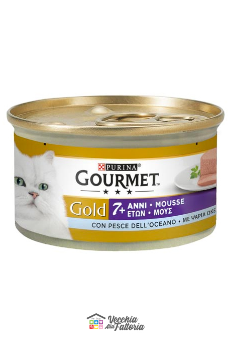 PURINA | GOURMET GOLD - Mousse 7+ / Gusto: PESCE DELL'OCEANO - 85gr