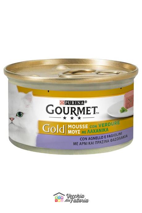 PURINA | GOURMET GOLD - Mousse / Gusto: Agnello e Verdure (Fagiolini) - 85gr