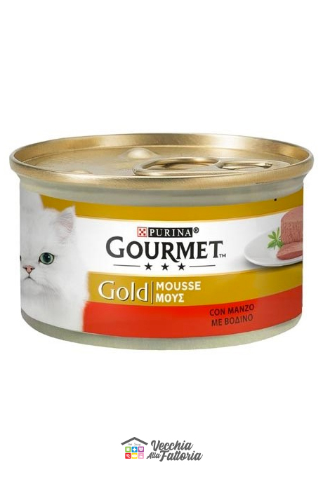 PURINA | GOURMET GOLD - Mousse / Gusto: Manzo - 85gr
