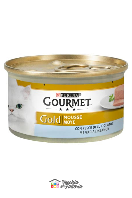 PURINA | GOURMET GOLD - Mousse / Gusto: Pesce dell'Oceano - 85gr