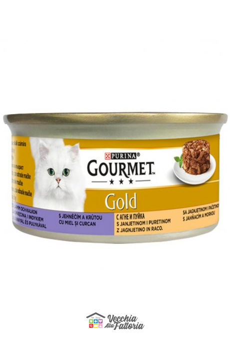PURINA | GOURMET GOLD - Intrecci / Gusto: Tacchino e Agnello - 85gr