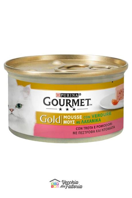 PURINA | GOURMET GOLD - MOUSSE / Gusto: Trota con Verdure (Pomodoro) - 85gr