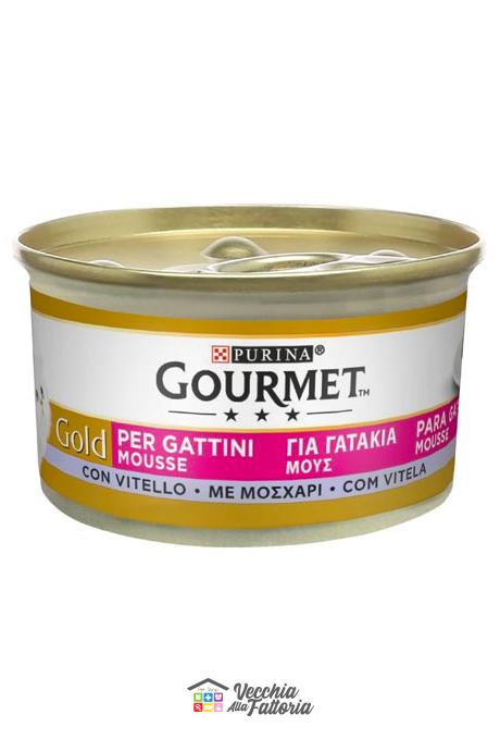 PURINA | GOURMET GOLD - MOUSSE GATTINI / Gusto: Vitello - 85gr