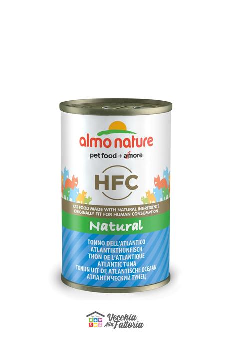 Almo Nature Gatto | Linea NATURAL HFC | Tonno Atlantico - 140gr