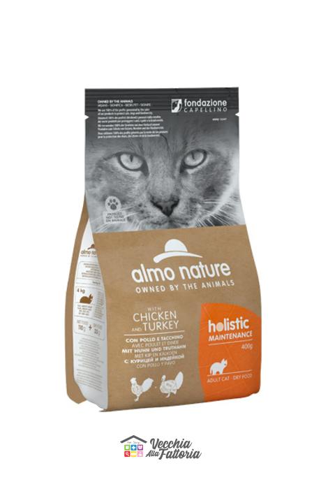 Almo Nature Gatto | Linea Holistic | Pollo e Tacchino / 2 kg