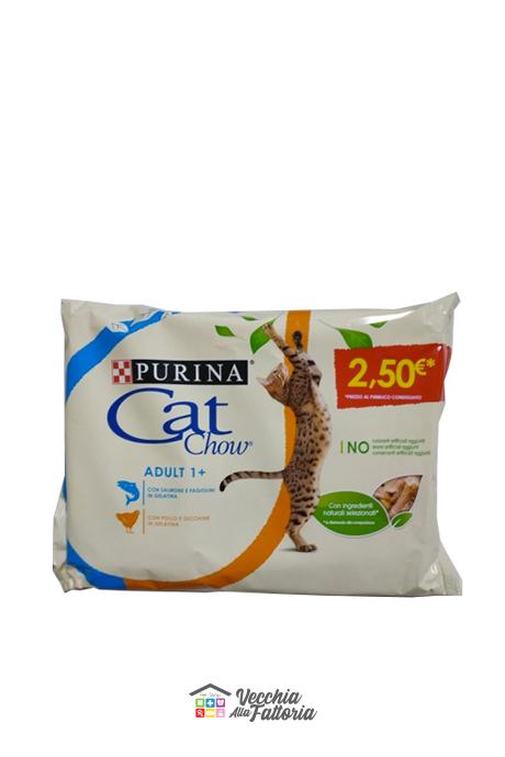 Purina | Cat Chow - Adulti 1+ | Gusti Salmone + Pollo / Multipack 85gr x 4