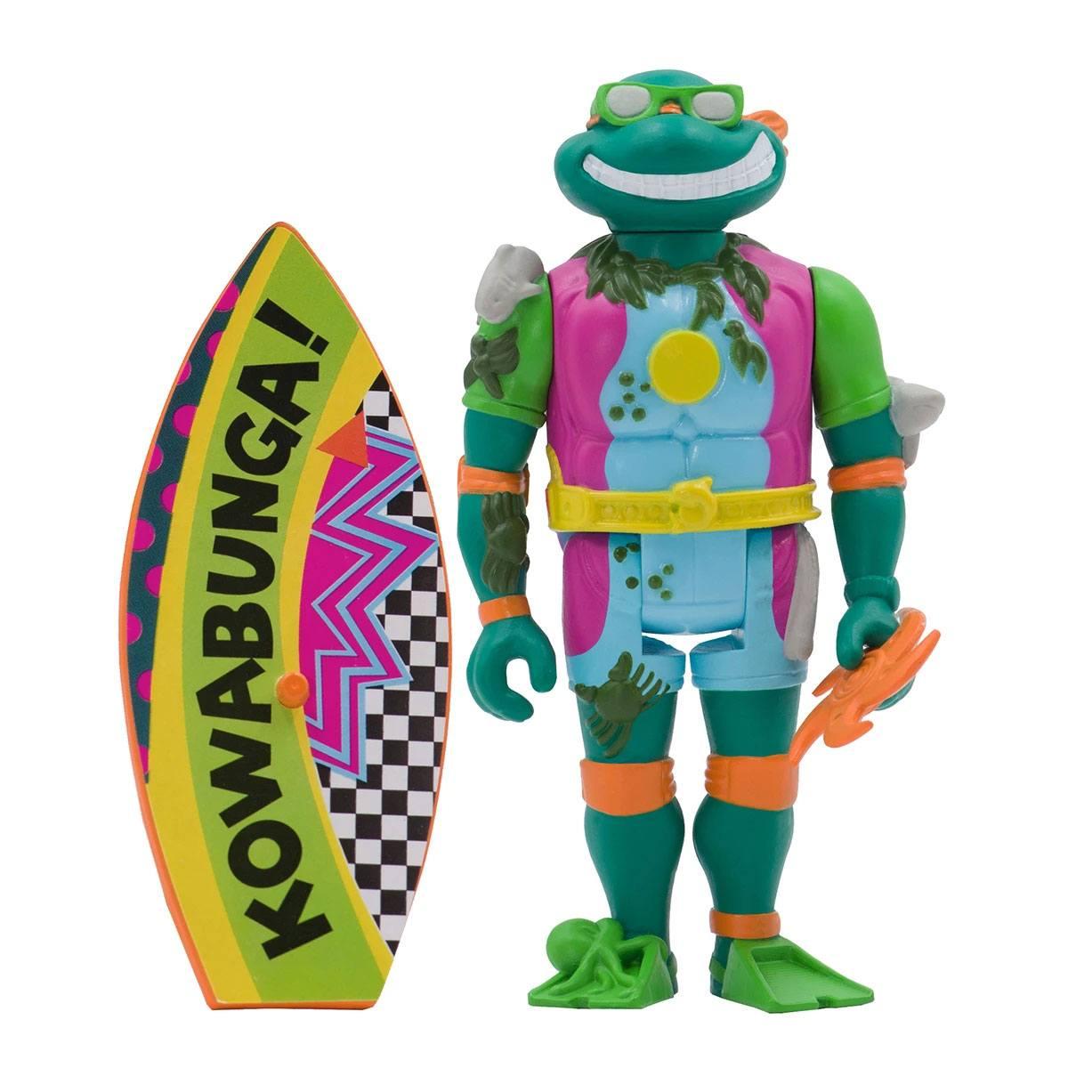 *PREORDER* Teenage Mutant Ninja Turtles ReAction: SEWER SURFER MICHELANGELO by Super7