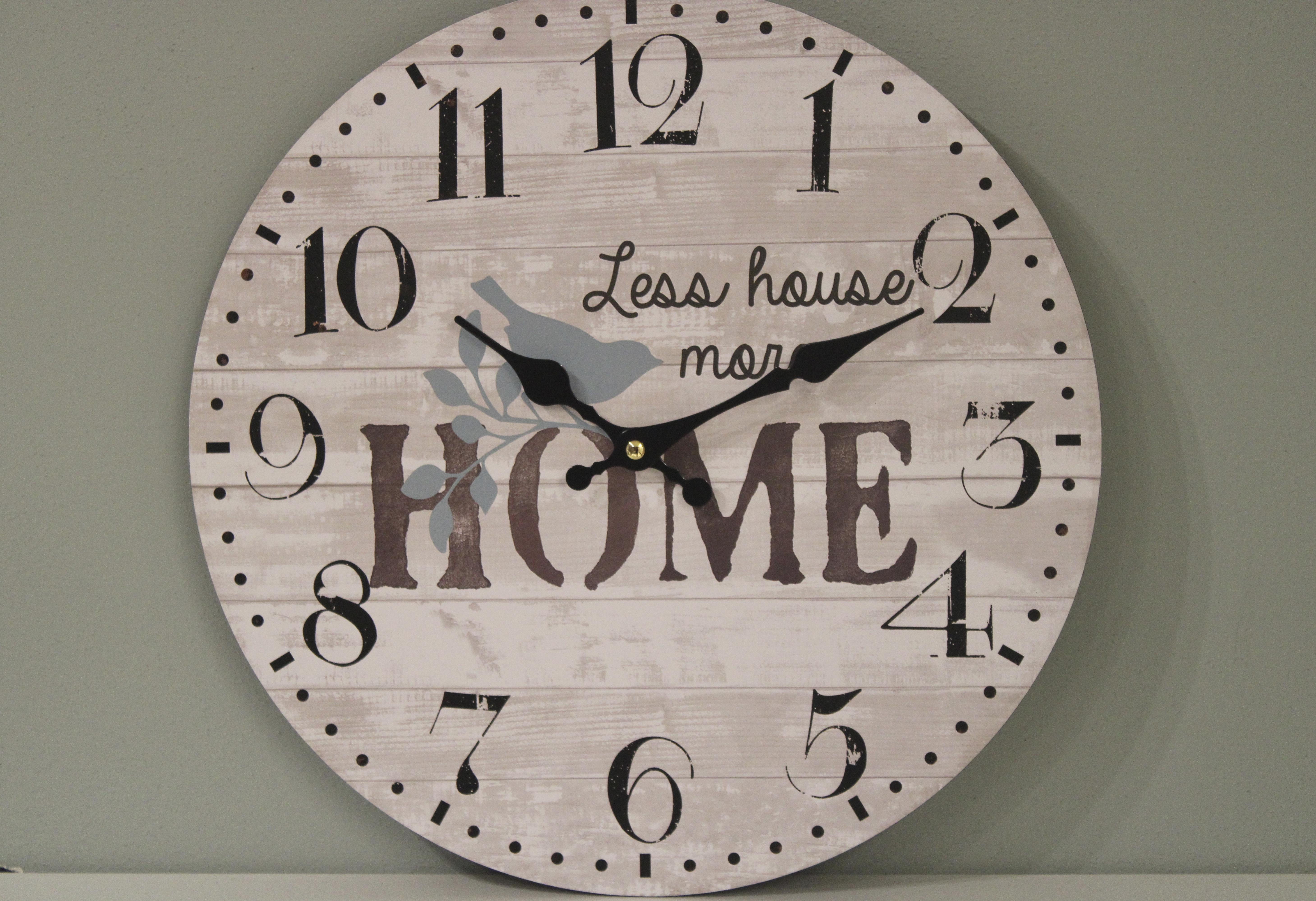 Orologio effetto legno