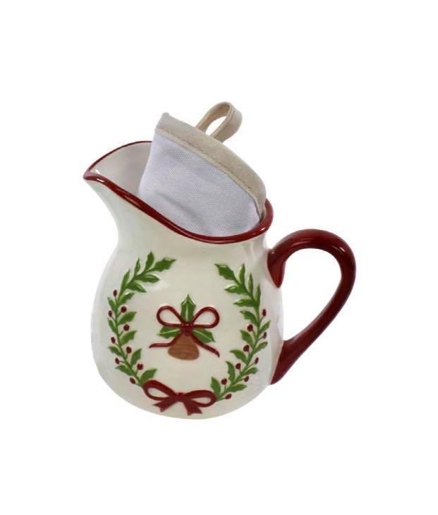 Decorazione in ceramica natalizia