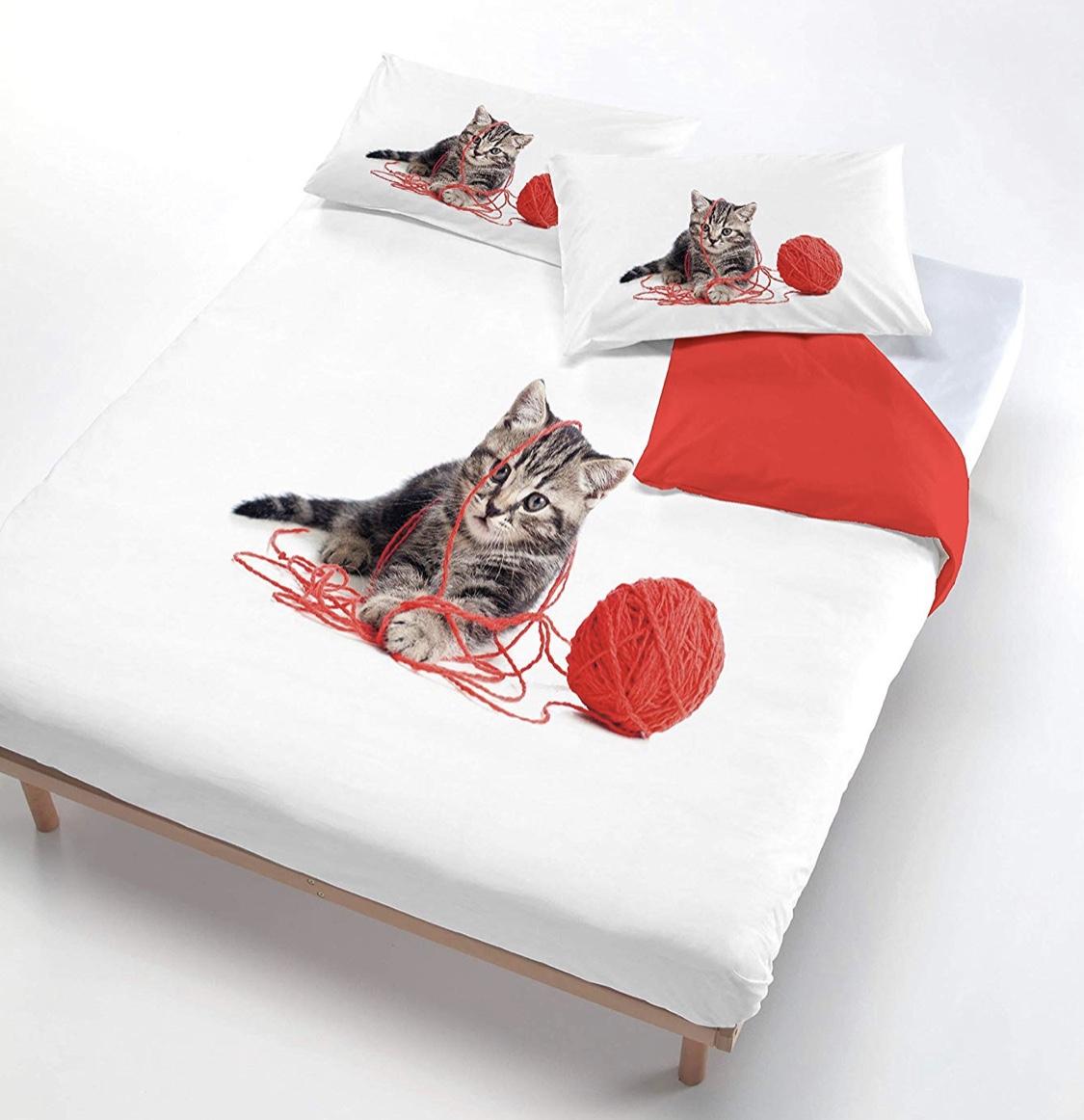Lenzuola gattini 100% cotone