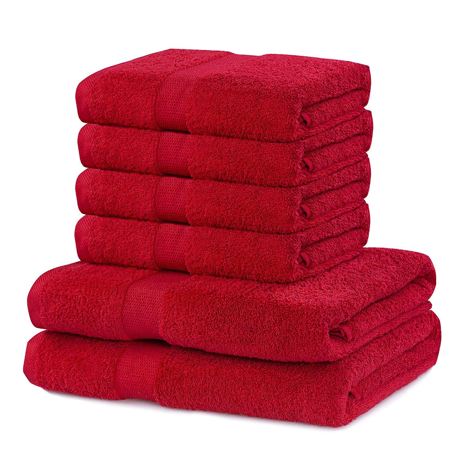 Asciugamani da bagno rosse