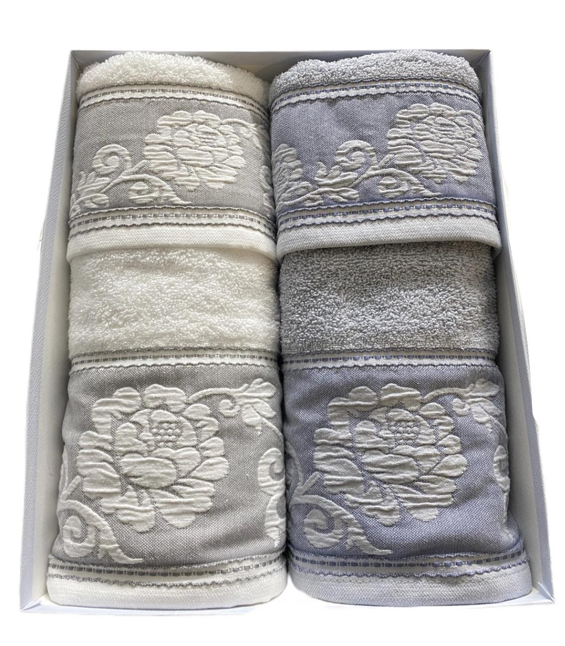 Set asciugamani fiorate
