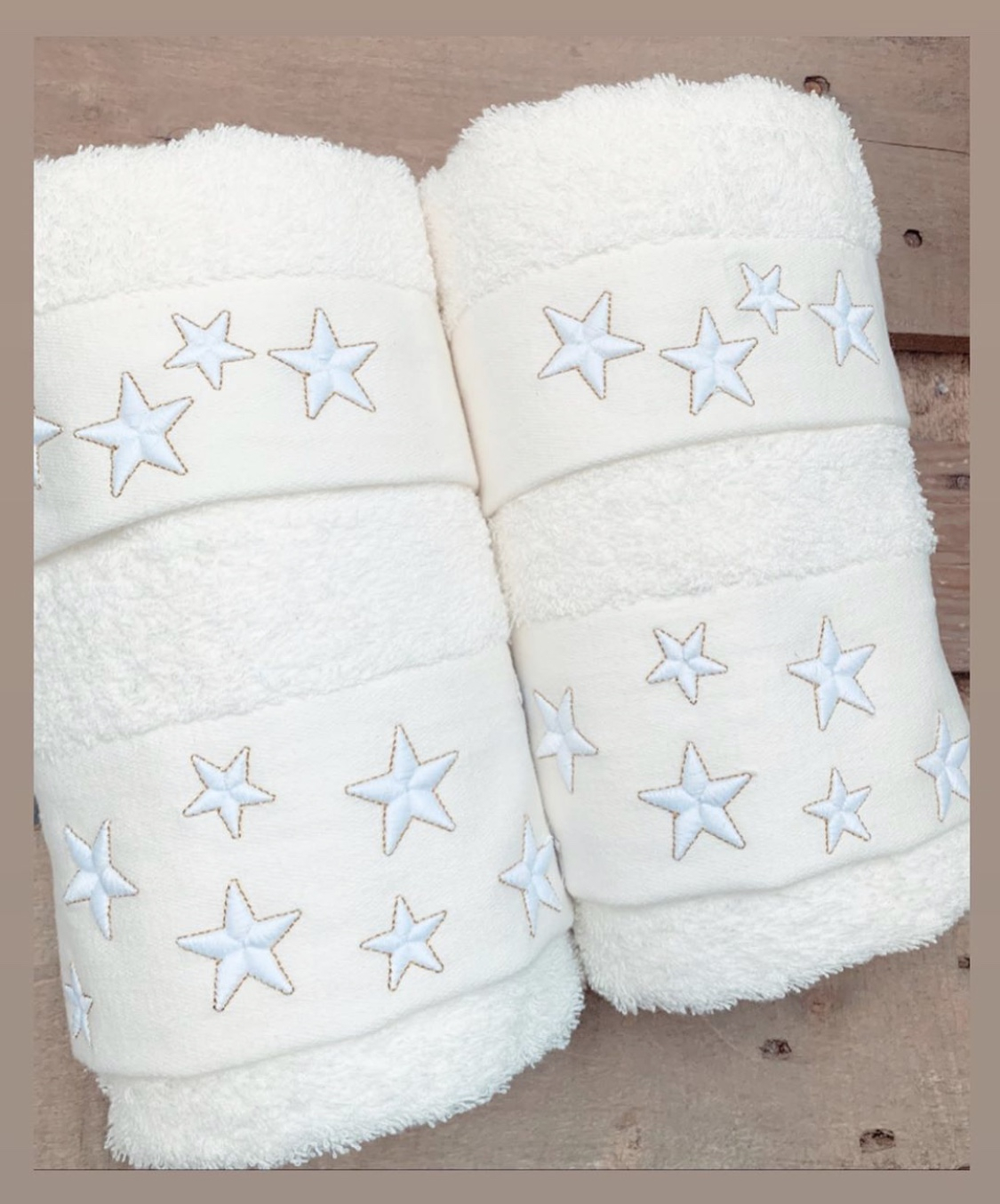 Asciugamani stelline