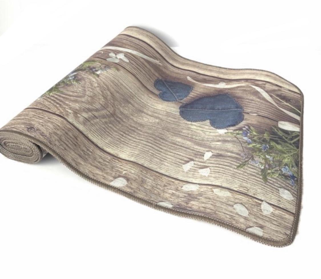 Tappeto effetto legno