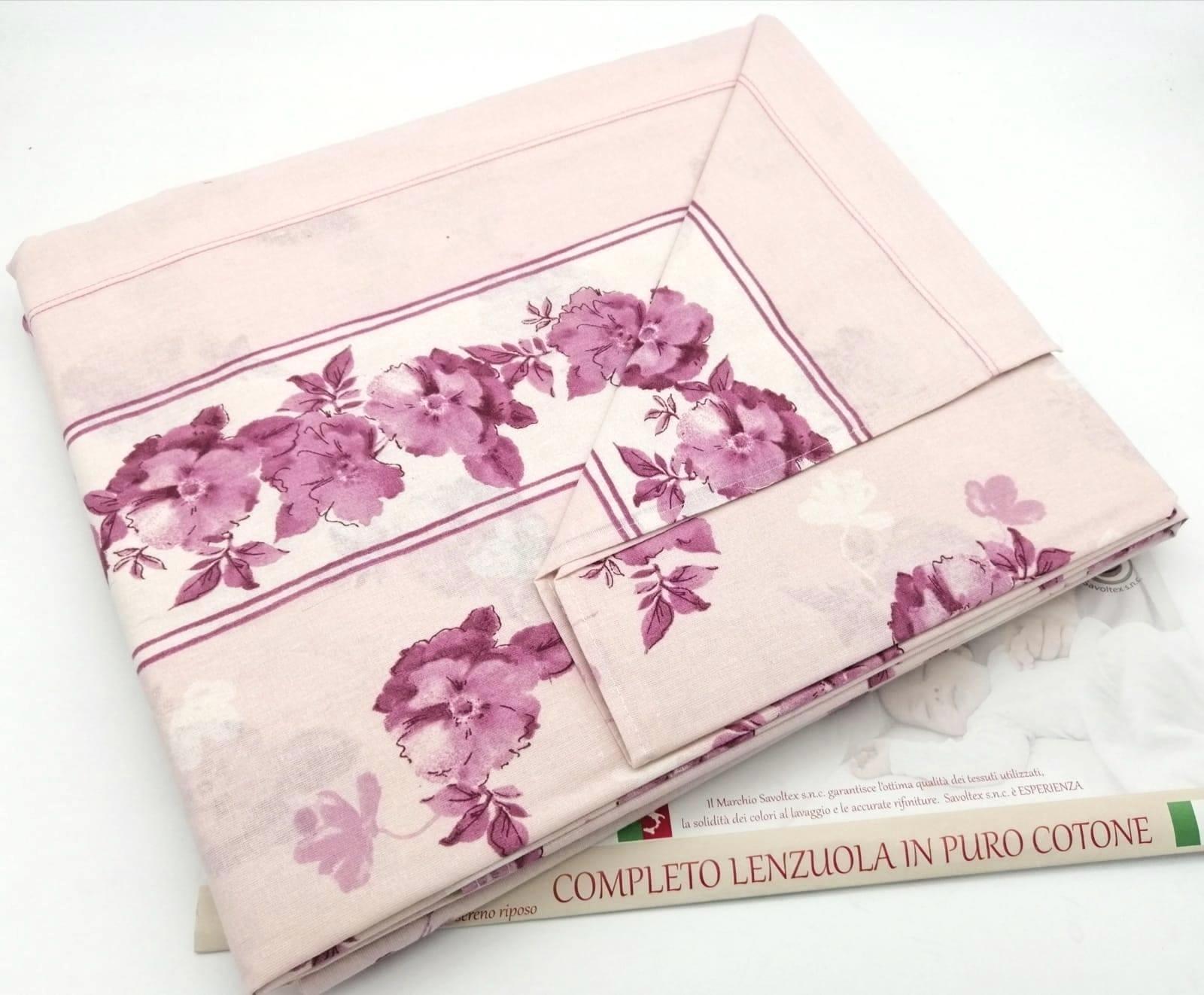 Lenzuola fiori violet
