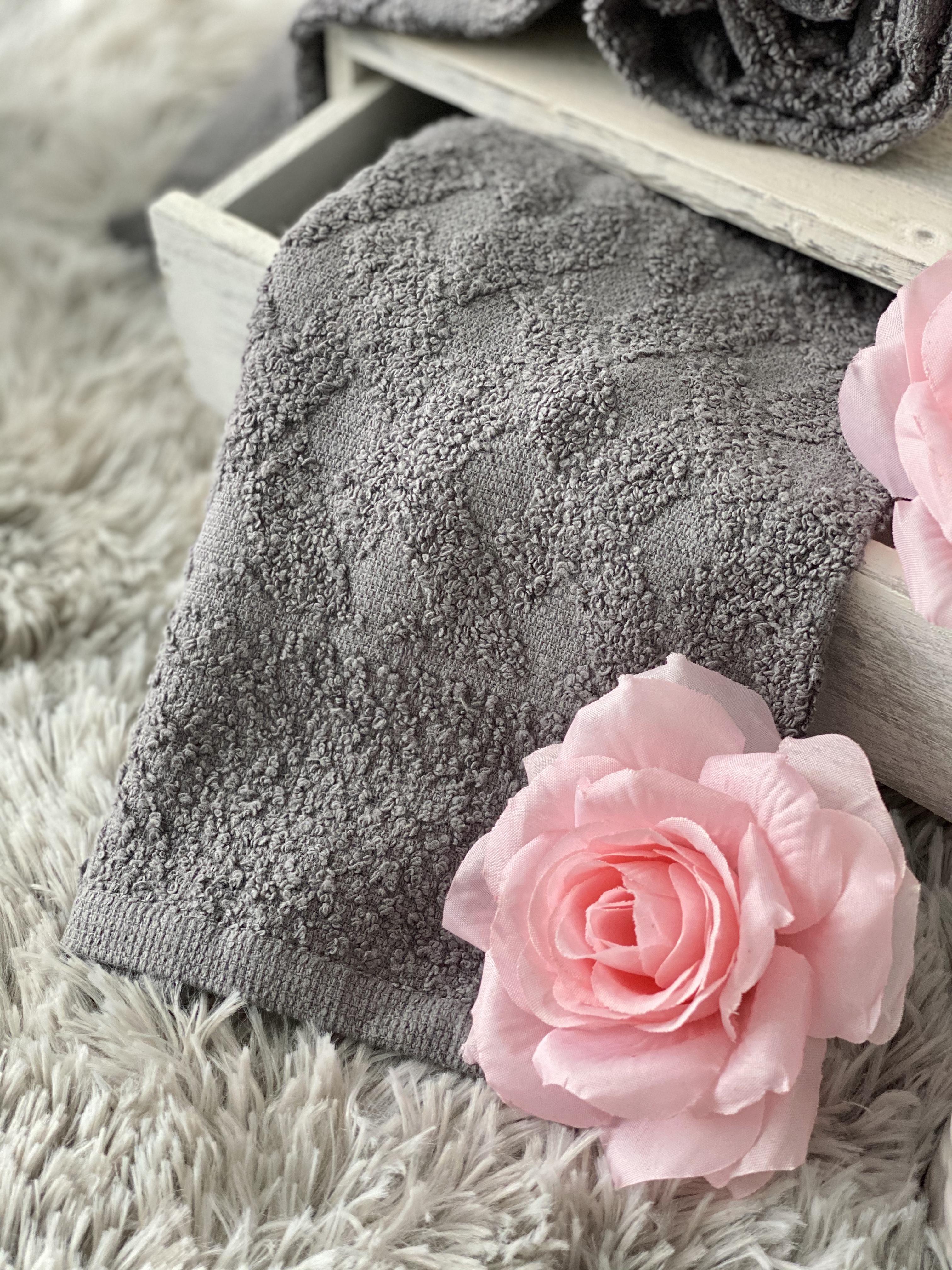 Set asciugamani grigio topo