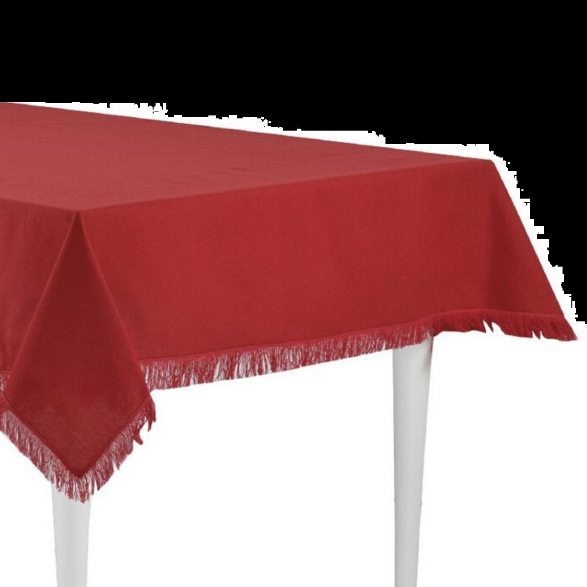 Copritavolo frange red