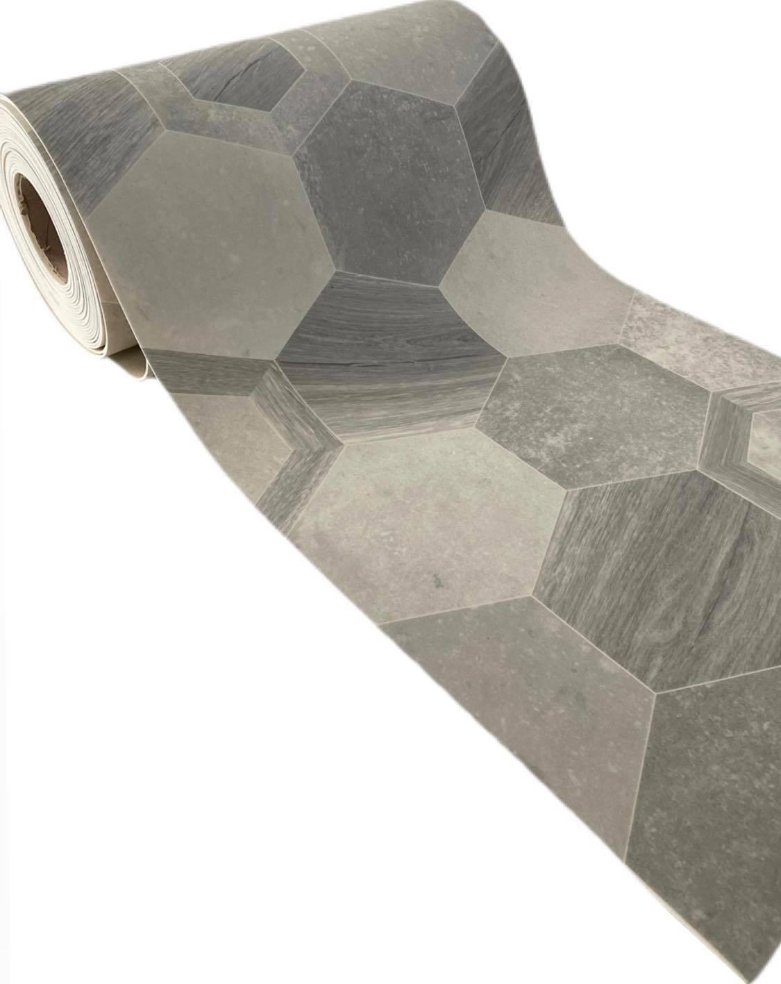 Tappeto in vinile effetto mattonelle esagonali