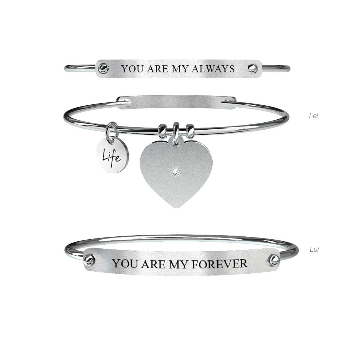 Kidult bracciale Love, Lui & Lei