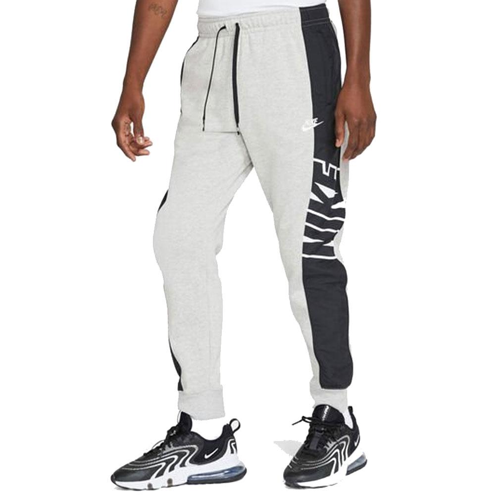 Nike Pantalone Jogger Grigio Nero da Uomo