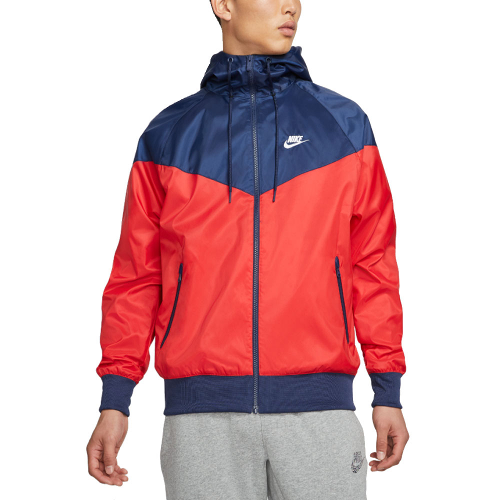 Nike Giacca a Vento Blu Rossa Unisex