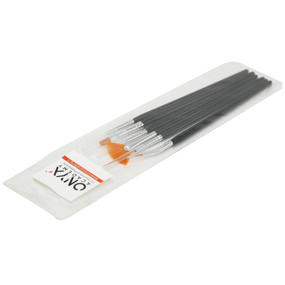 Kit 6 Pennelli per Nail Art - Black