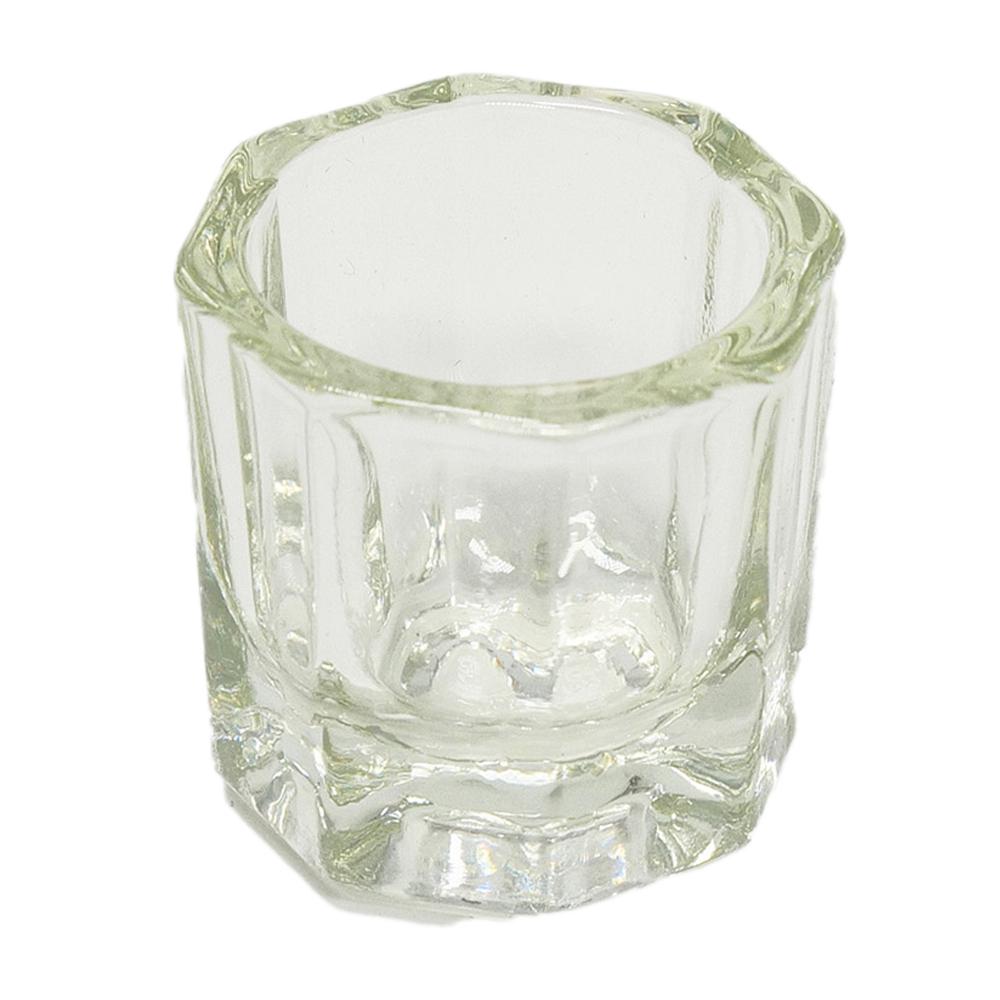 Bicchierino Vetro per Nail Art, Micropittura, Acrilico e Pulizia Pennelli