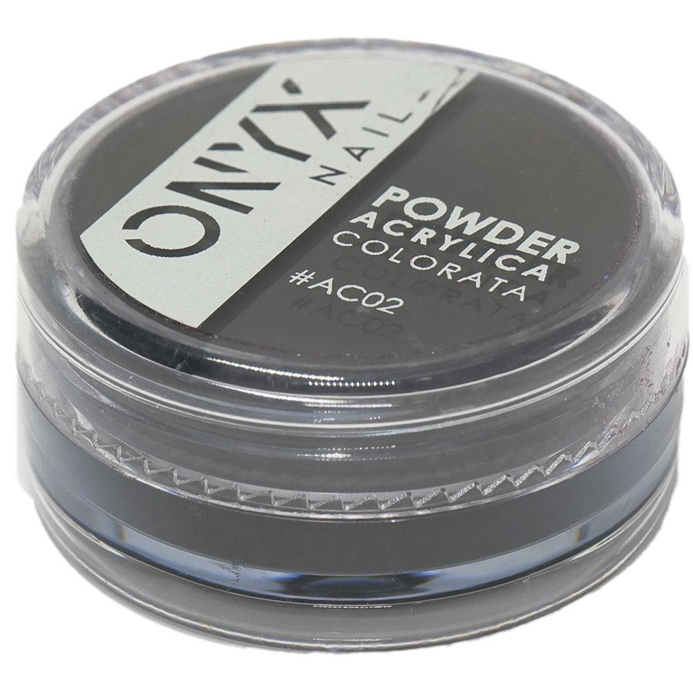 Polvere Acrilica Colorata OnyxNail - COLORE #AC02 - Colore : Nero