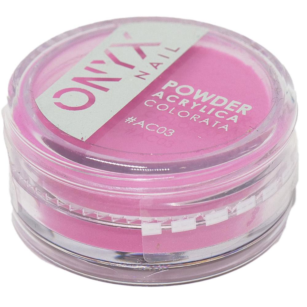 Polvere Acrilica Colorata OnyxNail - COLORE #AC03 - Colore : Rosa