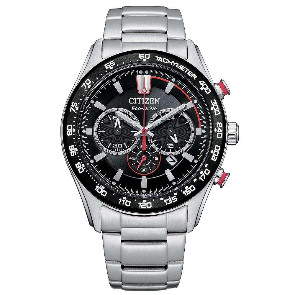 Citizen Crono Sport Cassa acciaio, quadrante nero